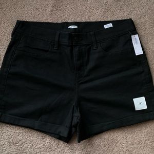 Old navy mid rise black jean shorts